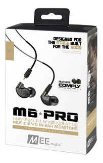 Auriculares Mee Audio M6 Pro G2 In Ear Negro - Fac A/b