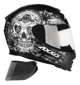 Capacete Moto Axxis By Mt Skull Caveira + Viseira Extra