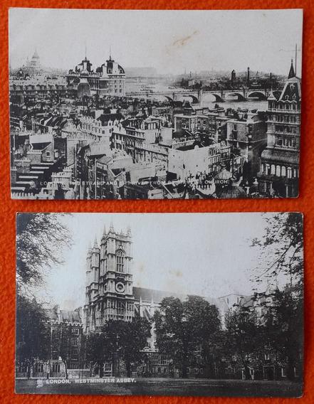 2 Postales Antiguas De La Ciudad De Londres Inglaterra