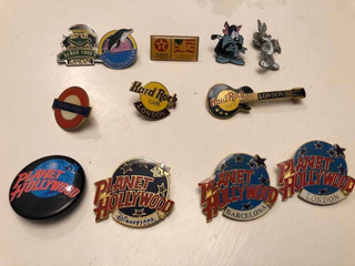 Colección De Pin Pins Hard Rock Cafe Planet Hollywood Otros