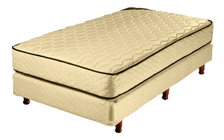 Colchón+ Sommier Piero Bahia Pillow 1 Plaza 80x190+1alm