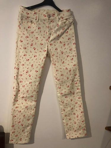 Pantalón Jean Elastizado H&m Talle 40 Importado