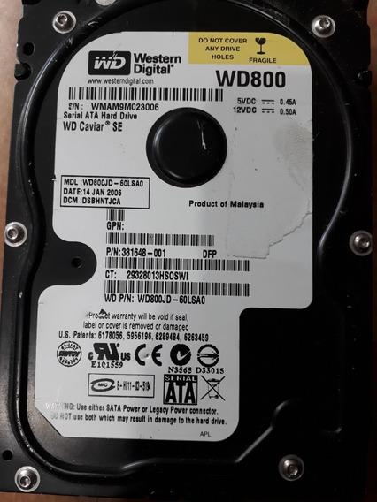 Hd Sata Western Digital Wd800jd-60ls 80gb Wd800 Wmam9m023006