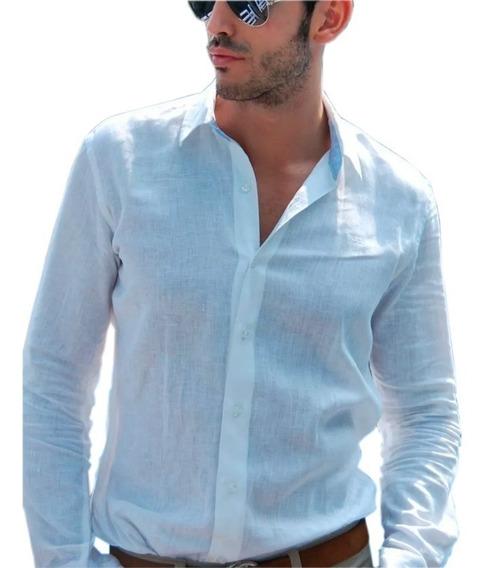 Camisa Hombre 100% Algodón Manga Larga G022