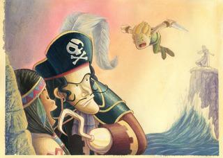 Ilustración Infantil Del Cuento De Peter Pan