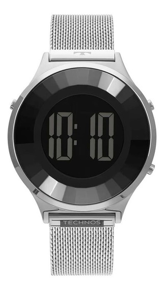 Relógio Feminino Digital Technos Prata Modelo Bj3851ag1p