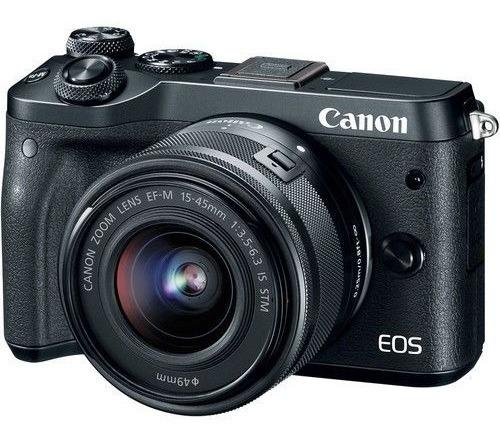 Câmera Canon Eos M6 Corpo Mirrorless Wi-fi Nfc Caixa Origina
