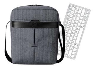 Bolso Para iPad + Teclado Bluetooth Silver