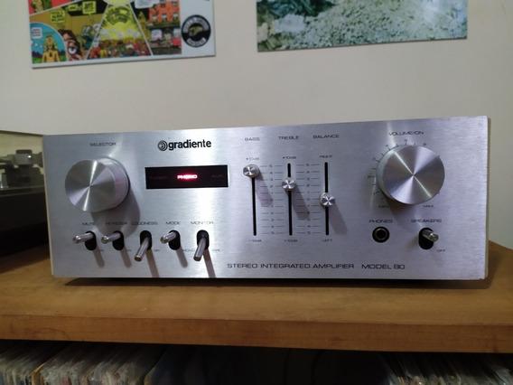 Amplificador Gradinte Model 80 Relíquia!!! Único Dono