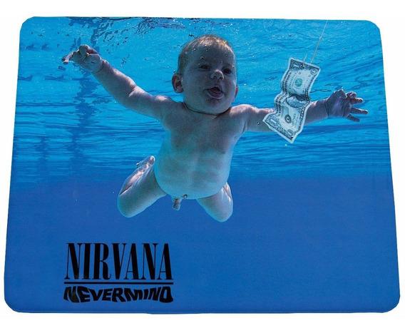 Mouse Pad Nirvana Nevermind - 21x17cm - Frete Grátis