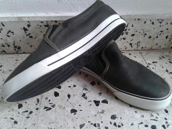 Zapatillas Panchas Blackfin Cuero Descarne Verde Unisex