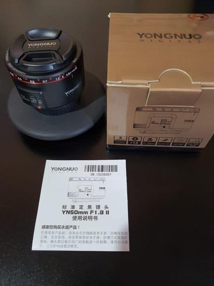 Nova Lente Yongnuo Yn 50mm F1.8 Mark Ii P/ Canon