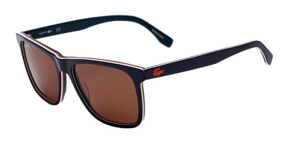 0lacoste L 875 S - Óculos De Sol 424 Azul Brilho/ Laranja