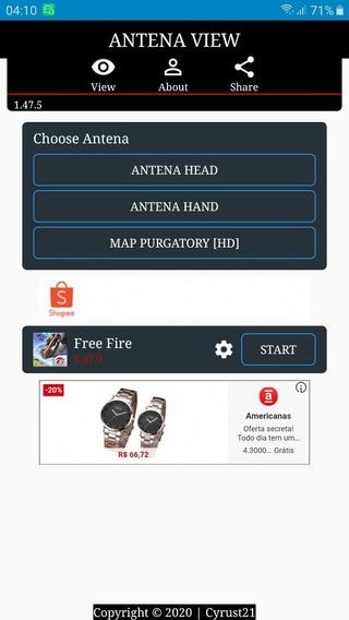 Antena Hacker Free Fire