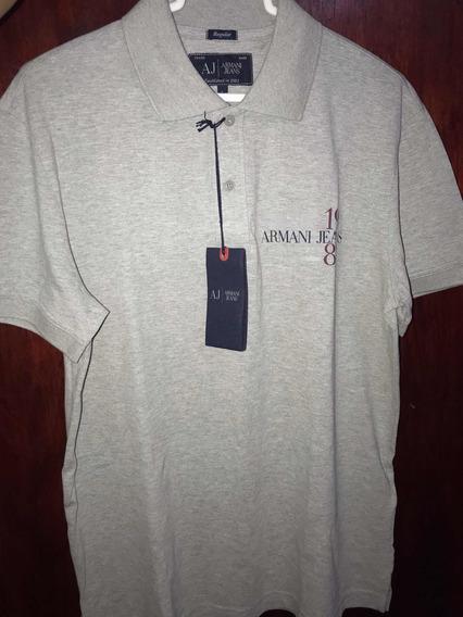Playera Armani Jeans Tipo Polo Con Logotipo