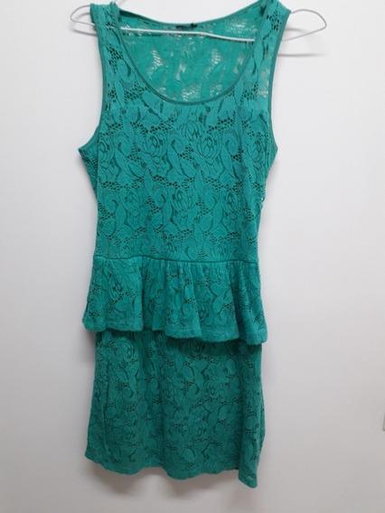 Vestido De Encaje Verde