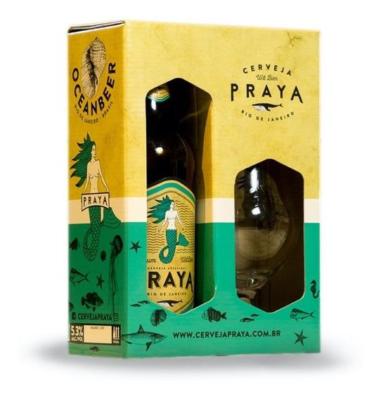 Kit Presente Taça + Garrafa 600ml Cerveja Praya