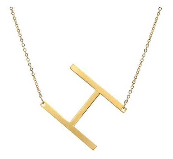 Collar Dije Letras Iniciales- Acero Inoxidable+ Caja-regalo