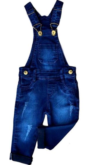 Roupa Feminina Jardineira Jeans Macacão 1 A 16 Juvenil Bebe