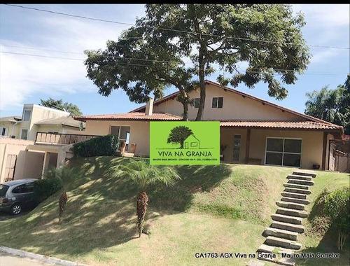 Casa Com 5 Dormitórios À Venda, 540 M² Por R$ 1.550.000,00 - Granja Viana  Granja Caiapiá - Cotia/sp - Ca1763