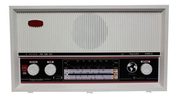 Radio Antigo Vintage Imperador 6 Faixas Fm Am Om Crmif-91