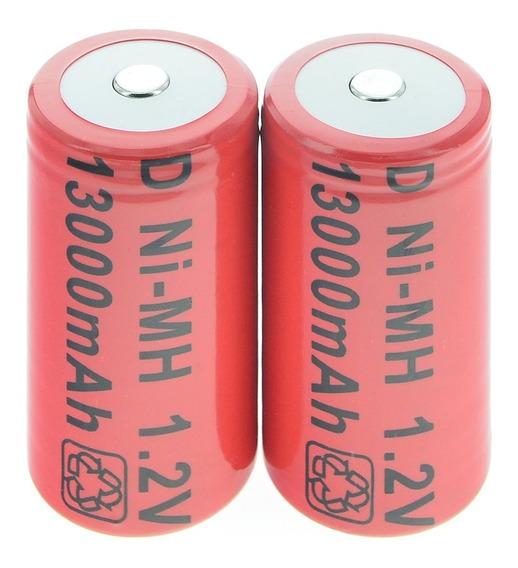 Bateria Pilha Recarregável D 1,2v 11000mah Ni-mh (2unidades)