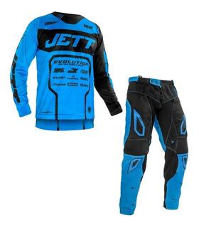 Kit Roupa Conjunto Calça + Camisa Motocross Jett Evolution 2