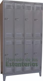 Guardarropa Metalico 8 Puertas Cortas Locker-vestuario Nuevo
