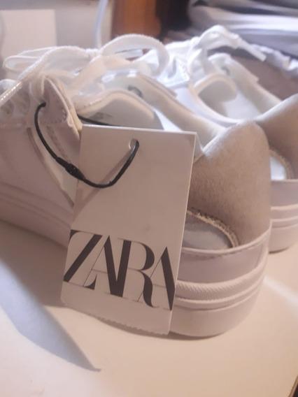 Zapatillas Zara Blancas Talle 36 Nuevas