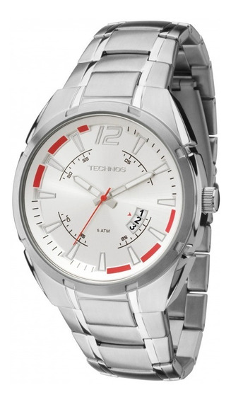 Relógio Technos Masculino Em Aço Prata 2115ktd/1k - Promoção