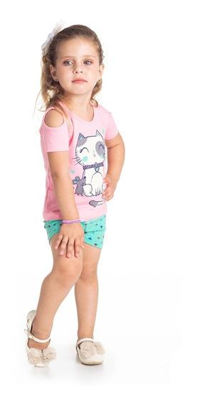Kit 3 Conjuntos Roupa Infantil E Juvenil Menina 123468101214