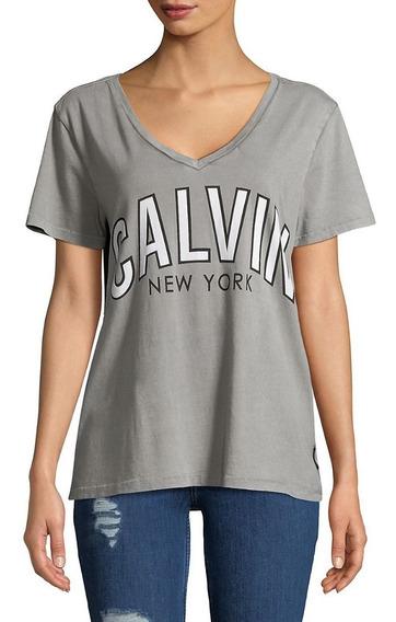 Remera Calvin Klein Mujer Original Escote V Mercado Importad