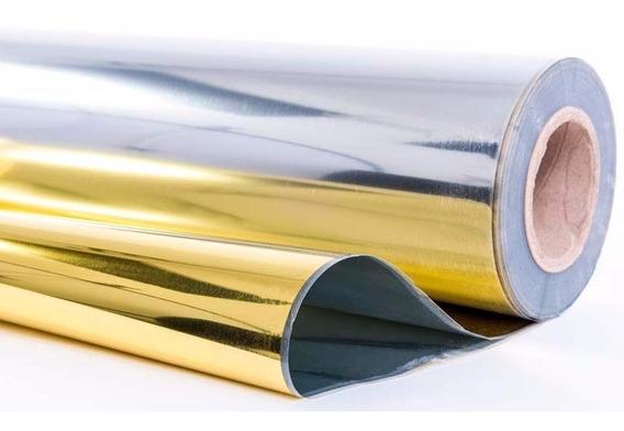 Adesivo Cromado Semi Espelhado Ouro Carro E Móveis 2mx1,06m