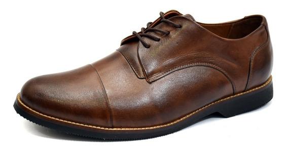 Sapato Social Masculino Oxford Liso Tamanho Especial 6830/3