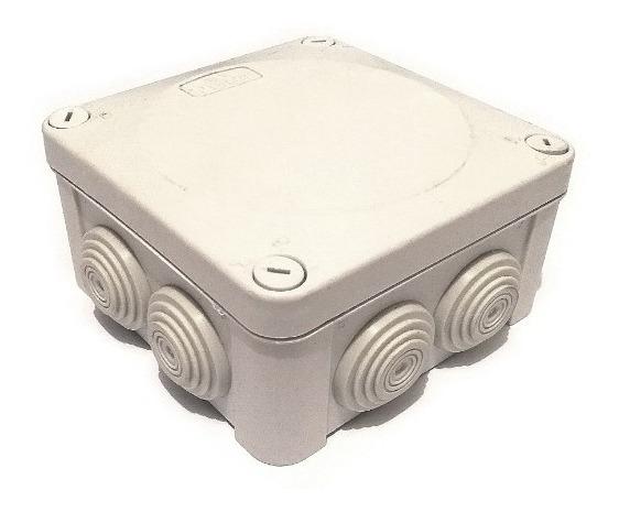 Pack 5 Cajas Estanca De Registro Ip55 10x10x5.5 (con Conos)