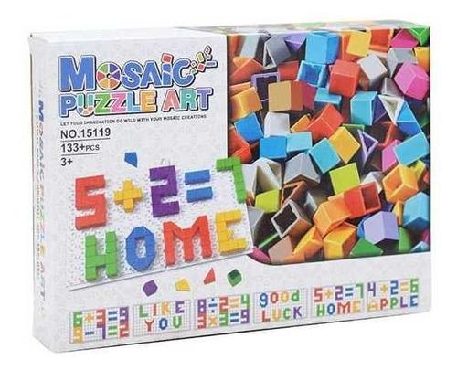 Imagen 1 de 4 de Juego Didáctico Rompecabezas Fichas Mosaico