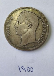 Moneda Fuerte De Plata Año 1900 Lei 900 25 Gramos