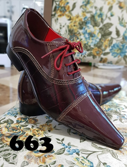 Sapato Social Masculino Diferenciado Colorido Bico Fino