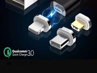 Conector Carga Rápida Cable Magnetico Ios