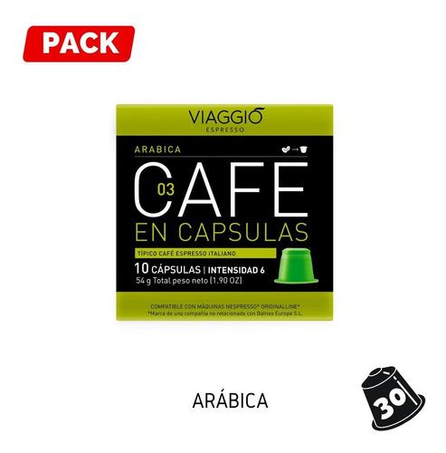 Pack 30 Cápsulas Café Viaggio Arábica Para Nespresso®
