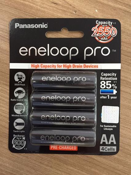 01 Pack Panasonic Eneloop Pro 4 Pilhas