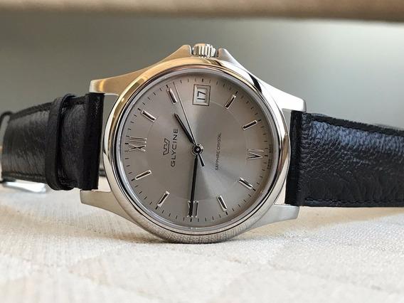 Relógio Glycine Classic Silver 3519-10rp-lb9 Swiss Made