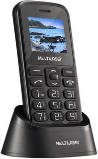 Telefone Celular Preto De Idoso Vita Dual Chip Simples