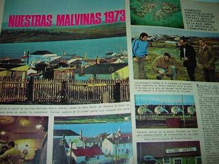 Clipping 5 Pgs Islas Malvinas 1973 Base Combustibles Ypf