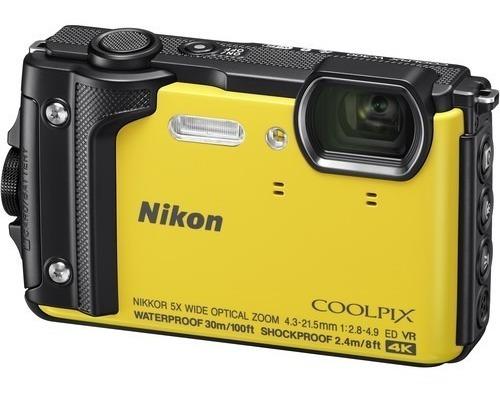 Câmera Nikon Coolpix W300 4k Prova Dágua Amarela 12x S/juros