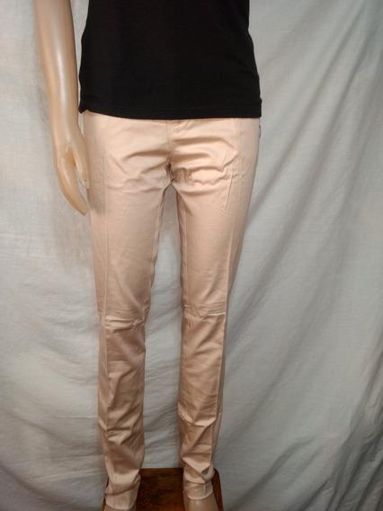Pantalon Basement Talle 40 Rosa Nude