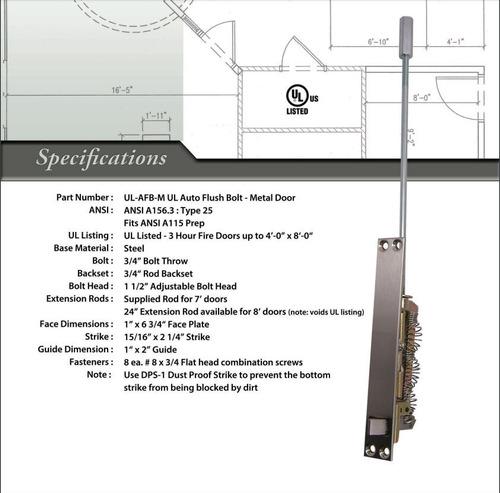 Imagen 1 de 3 de Pasador Automático Rockwood De Perno P/metal Ul26 Por Par.