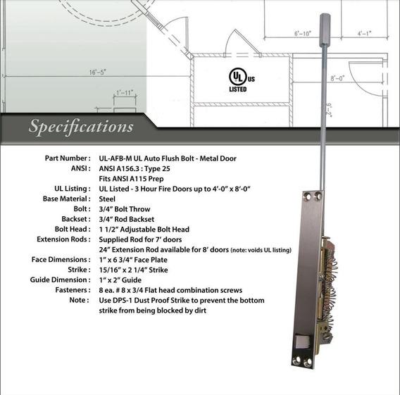Pasador Automático Rockwood De Perno P/metal Ul26 Por Par.