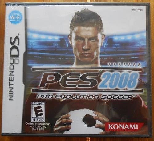 Juego Nintendo Ds Pes 2008 Pro Evolution Soccer /makkax