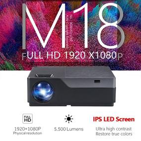 Aun M18 Full Hd Projetor 1920x1080 Resolução Led 5500 Lumens